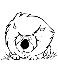 Cute Cartoon Lion Coloring Page