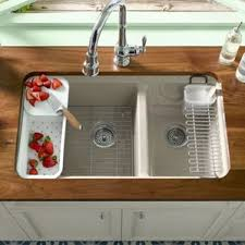 Kohler Riverby Top Mount Sink by 5 Hole Kitchen Sinks You U0027ll Love Wayfair