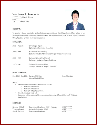Resume Examples For College Students Pdf Samples Graduate Template Free Templates With No Work Experience Sample