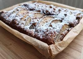 birnen nuss kuchen vom blech mit schokolade