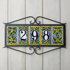 100 mexican tile house numbers with frame stupendous