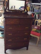 Tiger Oak Dresser With Swivel Mirror by Antique Oak Dresser Ebay