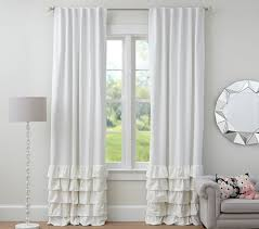 Pottery Barn Curtains Grommet by Emery Linen Cotton Grommet Drape Pottery Barn Within Sweet White