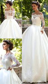 Luxury Rustic Wedding Dress For Gowns Lace With Long Sleeves 64