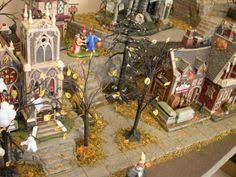 Lemax Halloween Village Displays by Cemetery In The Slime X Halloween Village Slime And Cemetery