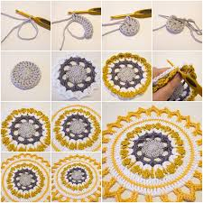 How To Make Handmade Crochet Mandala Step By DIY Tutorial Instructions