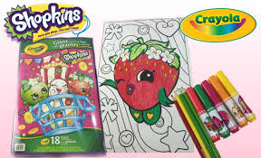 Giant Shopkins Crayola Coloring Strawberry Kiss With Markers