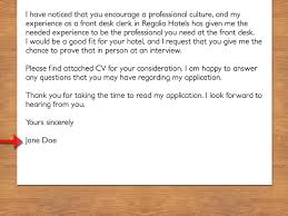 Front Desk Cover Letter Hotel by How To Write A Cover Letter To A Hotel Vripmaster
