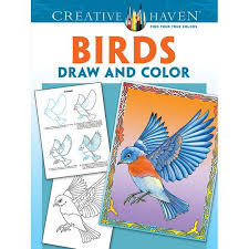 Birds To Draw And Color Your Creativity Will Soar With Step By Instructions Different BirdsColoring BooksAdult