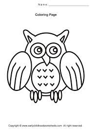 Easy Birds Coloring Pages
