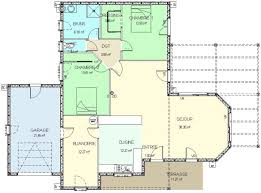 plan maison en bois gratuit construction 86 fr plan maison ossature bois plain pied type 4