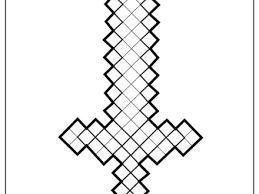 Minecraft Sword Coloring Page H M Pages
