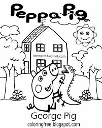 Peppa Pig Pumpkin Stencil by George Pig Template Eliolera Com
