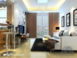 Living Room Mini Bar Furniture Design Brown Tile Floor Orange