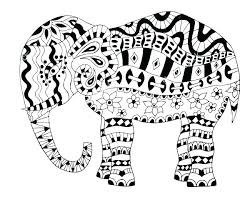 Coloring Picture Of An Elephant S Mat Printable Pages Baby Elephants