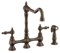 Oil Rubbed Bronze Faucets by Belle Foret Bfn11001orb Oil Rubbed Bronze Bridge Kitchen Faucet