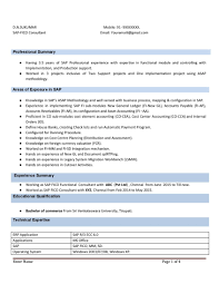 Resume Sample: Sap Fico Resume With Years Experience Instant ...