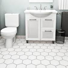 somertile 7 x 8 inch hextile glossy blanco ceramic floor and wall