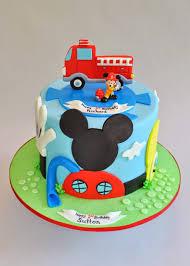 100 Mickey Mouse Fire Truck Truck Cake Hopes Sweet Cakes Hudson Pinterest