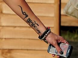 Sexy Lettering Arm Tattoo Idea For Girls