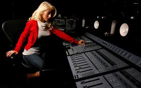 Christina Aguilera In A Recording Studio Wallpaper