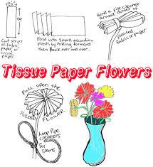 Tissue Paper Flower Crafts For Kids