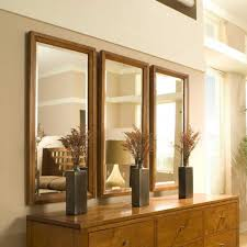 Vertical Rectangle Wooden Reclaimed Triple Wall Mirrors