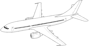 Airplane Coloring Page 5744