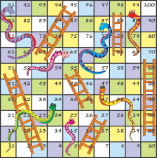 Snakes And Ladders Game Board Printable