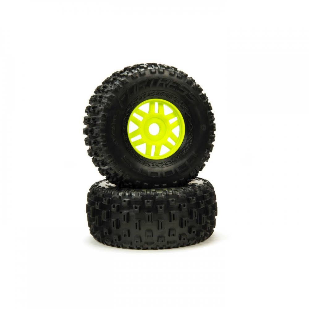 Arrma dBoots 'Fortress' Tire Set Glued - Green ARA550068