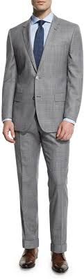 hugo plaid suit hugo hutson gander broken plaid wool suit light gray
