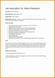 Administrative Assistant Job Description Template Unique Best Admin Resume Sample New
