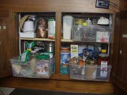 RV Storage Will Be Very Critical For The Fulltimer We Need It Basic Food Pass Thru Bins And Tots Hidden Behind Drawers