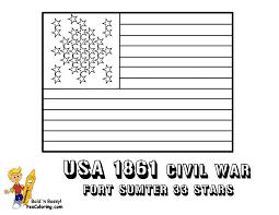 1861 Civil War Flag Printable At YesColoring