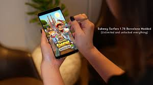 Subway Surfers Halloween Download by Subway Surfers 1 76 0 Apk Barcelona Modded Unlimited Unlocked Hack