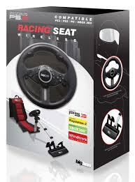 siege volant pc volant sans fil siège baquet pour ps2 ps3 et pc bigben