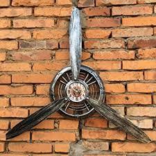 wisedwell wandschmuck metall wohnzimmer wand deko vintage wanduhr propeller wandbehang flugzeug dekorativ metallpropeller