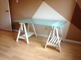 desk superb 14941 desk features a simple cross leg design and a