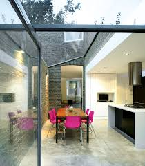 Modern Glass Extension With Dining Room In Victorian House