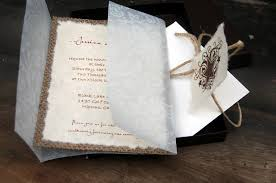 Rustic Burlap Vellum Lace Wedding Invitation Box Barn
