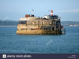 100 Spitbank Fort Solent Forts Stock Photo 107548325 Alamy
