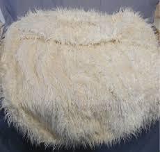 Pottery Barn PB Teen Ivory Furlicious Large Beanbag Slipcover 41
