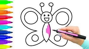 Simple Example How To Draw Butterfly