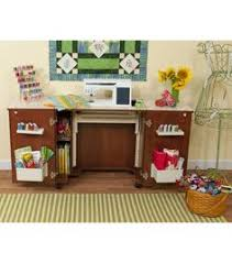 Sauder Sewing Craft Cabinet by Sauder Sewing Craft Table Cinnamon Cherry Sewing Furniture At