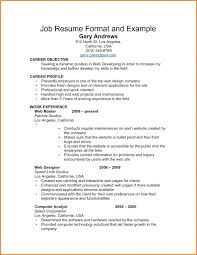 Draft A Resume Sample
