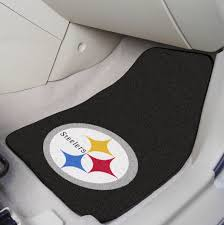 100 Truck Floor Mat Pittsburgh Steelers NFL 2 Pc Carpet Car Set EBay