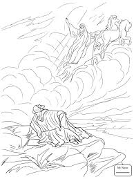 Coloring Pages Christianity Bible Elijah Called Down Fire