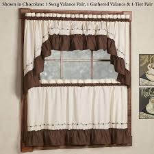 Cafe Style Curtains Walmart by Kitchen Window Covering Custom Kitchen Valance Window Curtains