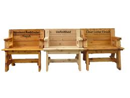 Benches Shown In 3 Finishes