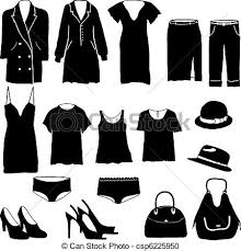 Womens Clothing Miscellaneous Vector Clipart